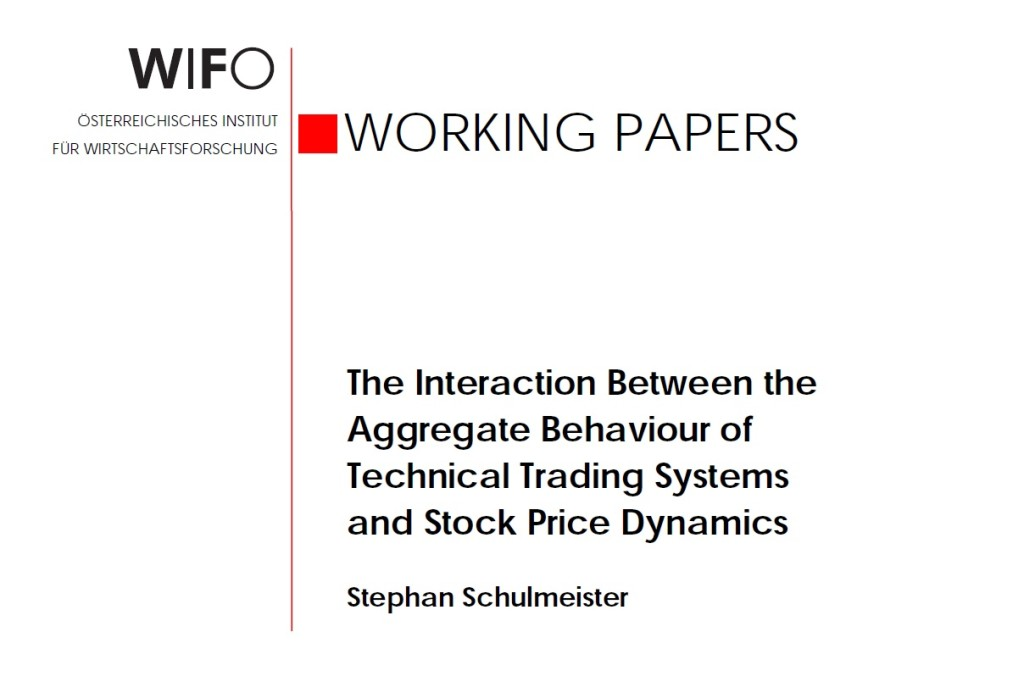 Schulmeister Study Interaction Aggregate Behavior Technical Trading Systems Stock Price Dynamics