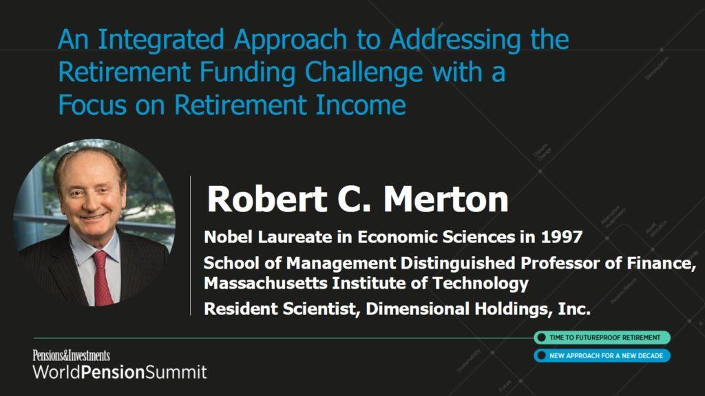 Präsentation Nobelpreisträger Robert Merton World Pension Summit